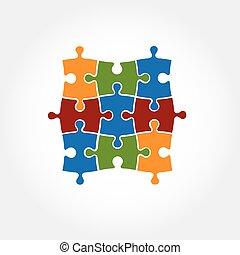 puzzle vector design template