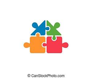 Puzzle vector icon illustration design