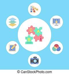 Puzzle vector icon sign symbol