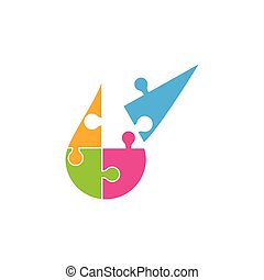 Puzzle Vector Illustration design
