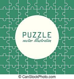Puzzle vector illustration in flat design