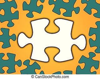 Puzzle vector illustration with indentation for text, color...