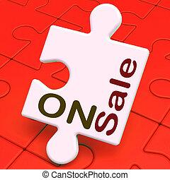 puzzle, vente, économies, escomptes, réduction, ou, spectacles