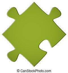 puzzle, verde, pezzo