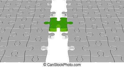 puzzle, vert, connexion