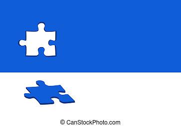 puzzle, vettore, astratto, fondo