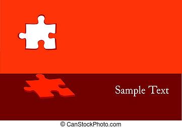 puzzle, vettore, astratto