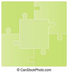 puzzle, vettore, set., illustrazione
