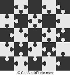 puzzle, vettore, template.