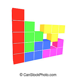 puzzle video game - geometric 3D cubes