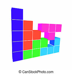 puzzle video game - geometric 3D shapes