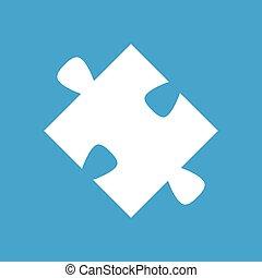 Puzzle white icon