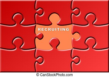 puzzle with a missing piece - recruiting - a puzzle with a...