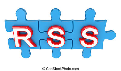 Puzzle with a word RSS.