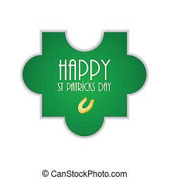 puzzle with St.Patrick day design