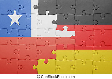 puzzle with the national flag of germany and chile
