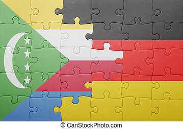 puzzle with the national flag of germany and comoros