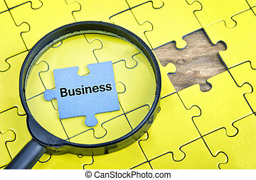 Puzzle with word Business