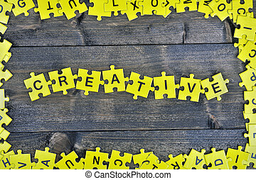 Puzzle with word Creative