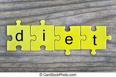 Puzzle with word Diet