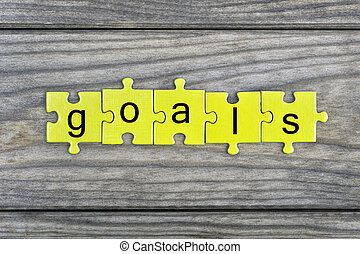 Puzzle with word Goals