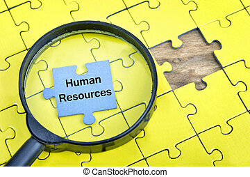 Puzzle with word Human Resources