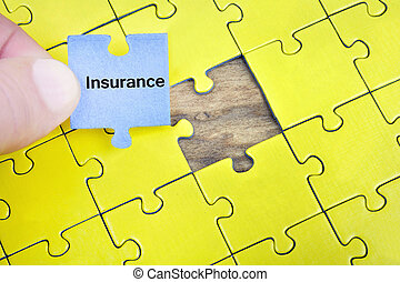 Puzzle with word Insurance
