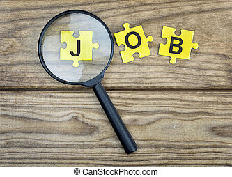 Puzzle with word Job