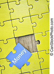 Puzzle with word Money