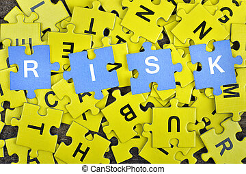 Puzzle with word Risk
