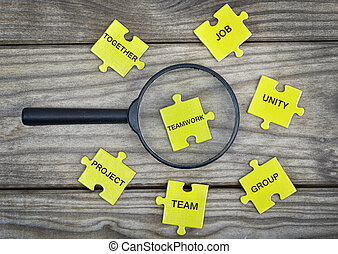 Puzzle with word Teamwork