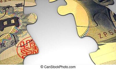 Currency puzzle, Japan yen.
