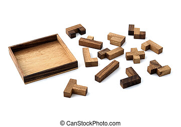 Puzzled - A wooden jigsaw puzzle ready to be solved