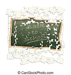"""puzzled theme \""""Back to school!\"""""""