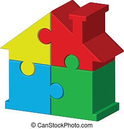 puzzles, дом