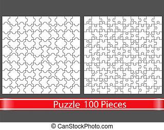 puzzles, 100, morceaux
