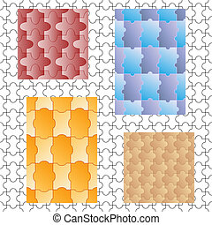 puzzles, cinq, seamless