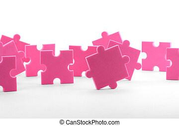 teamwork - puzzles close up, business concept teamwork