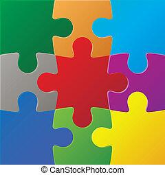 puzzles, coloré