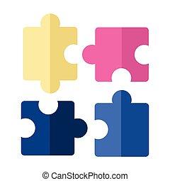 puzzles, morceaux denteux