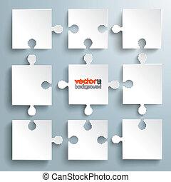 puzzles, organigramme, papier