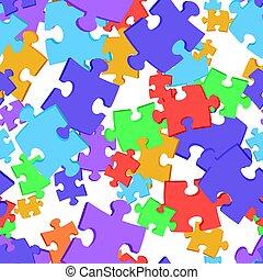 puzzles., seamless, fondo, colorato