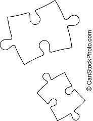 puzzles, vecteur