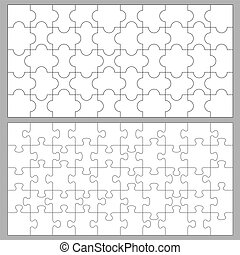 Puzzles with 50 pieces - Vector puzzles with 50 pieces