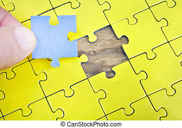 puzzleteil, leerer