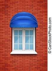 PVC arch window with awning - Metal plastic PVC arch window...