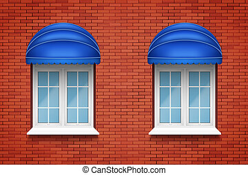 PVC arch windows with awning - Metal plastic PVC arch...