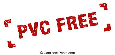 pvc free stamp. square grunge sign isolated on white background