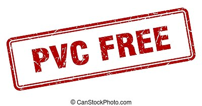 pvc free stamp. square grunge sign on white background