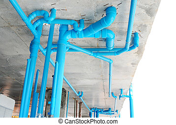 pvc pipe in construction site